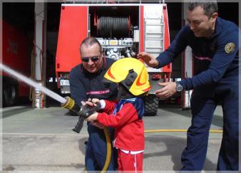 bomberos excursión con explora